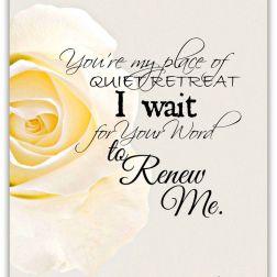 I Wait, Renew Me